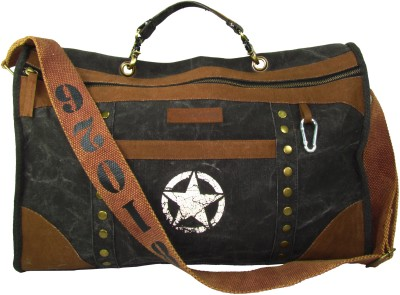 The House of Tara Distress Finish Studded Duffle Bag 19 inch/48 cm