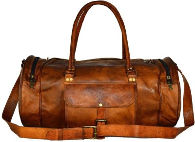 Pranjals House pranjals house vintage handcraft 22 inches overnight bag Travel Duffel Bag(Brown)