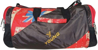 Bagathon India Young Star Travel Duffel And Sports Gym Bag With Side Pockets [RED] 17 inch/43 cm