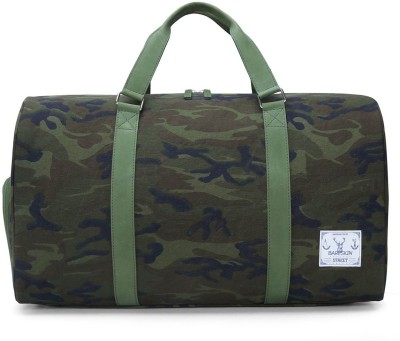 Bareskin CAMOFLAGE CANVAS /LEATHER COMBO DUFFLE BAG 20 inch/50 cm