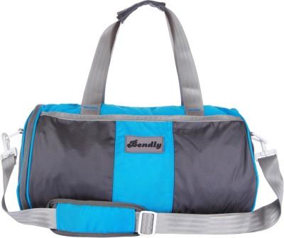 Bendly Round Gym 17 inch/43 cm Travel Duffel Bag(Lt. Blue)