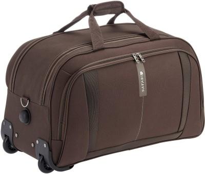 Safari Revv 21 inch/53 cm Duffel Strolley Bag(Brown)