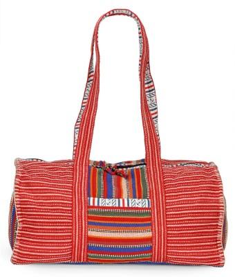 The House of Tara Handloom Fabric Overnighter Travel Duffel Bag(Multicolor)