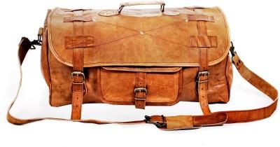 pranjals house vintage handmade leather duffel bag 20 inch/50 cm