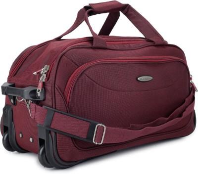 Princeware Russel 25 inch/65 cm Duffel Strolley Bag(Burgundy)