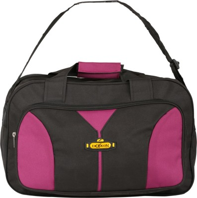 Daikon Fast line-BPN 17 inch/43 cm (Expandable) Travel Duffel Bag(BLACK, PINK)