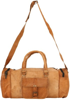 Aarna Leather Duffel Bag 18 inch/45 cm (Expandable)