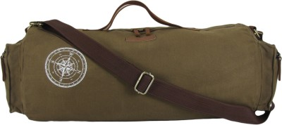 The House of Tara Waxed Canvas Duffle/Gym Bag 20 inch/50 cm Travel Duffel Bag(Khaki)