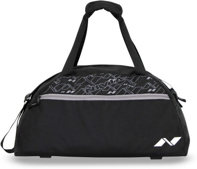 Nivia Journey Duffle Bag 20 inch/50 cm Travel Duffel Bag(Black, Grey)