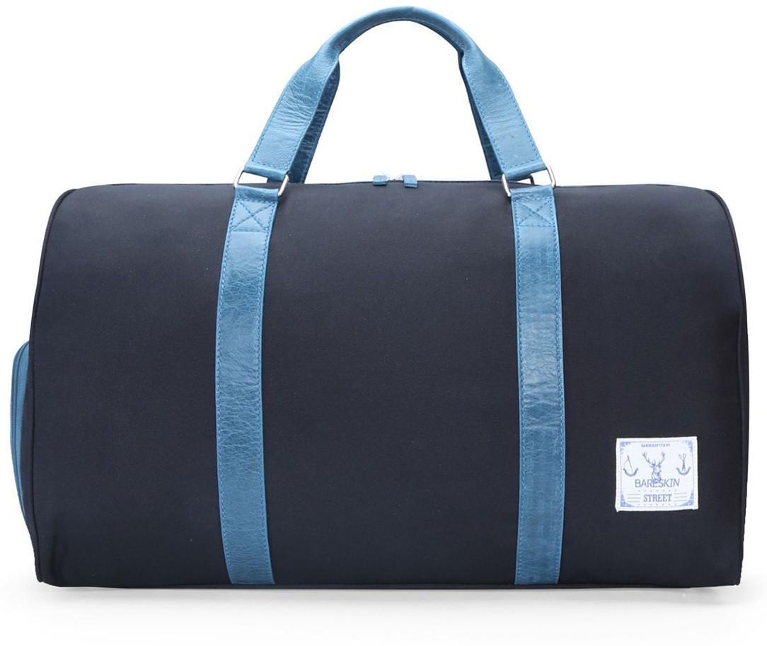 38877f91658e Bareskin BLACK DANIER  TURQUOISE LEATHER DUFFLE BAG 20 inch 50 cm