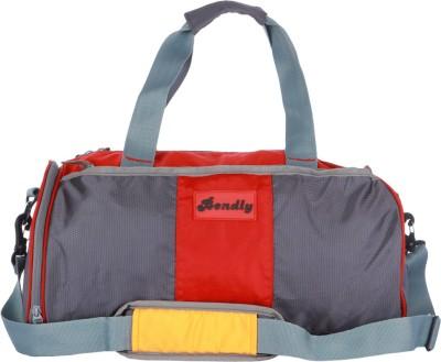 Bendly Round Gym 17 inch/43 cm Travel Duffel Bag(Red)