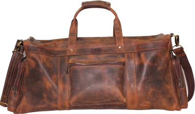Sanaaliya Duffel Bag - 7 Brown Duffel Strolley Bag(Brown)