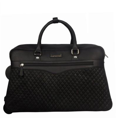 JUSTANNED ROLLING LEATHER DUFFLE STROLLEY 20 inch/50 cm