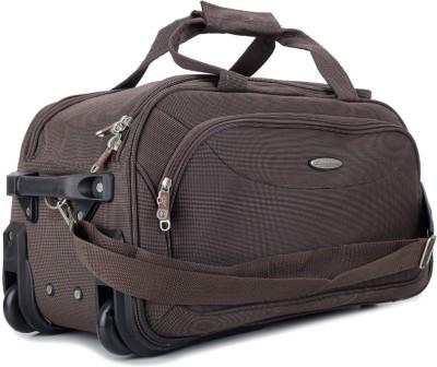 Princeware Russel 21 inch/55 cm Duffel Strolley Bag(Brown)