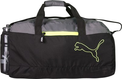 Puma FUNDAMENTAL SPORTS BLACK GREY Travel Duffel Bag(Black, Grey)
