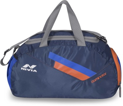 Nivia Dominator Jr Duffel Bag Travel Duffel Bag(Blue, Orange)