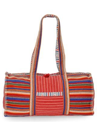 The House of Tara Vibrant Handloom Fabric Overnighter Travel Duffel Bag(Multicolor)