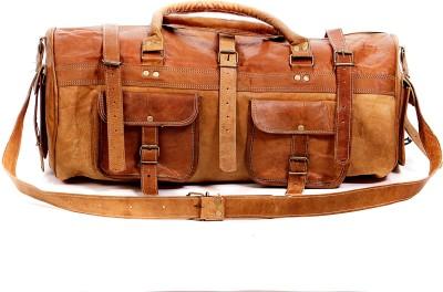 pranjals house vintage handmade leather duffel bag 22 inch/55 cm (Expandable)