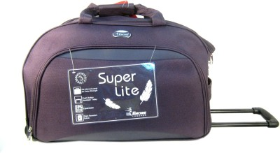 Encore Luggage Roller Duffel Duffel Strolley Bag(Purple)