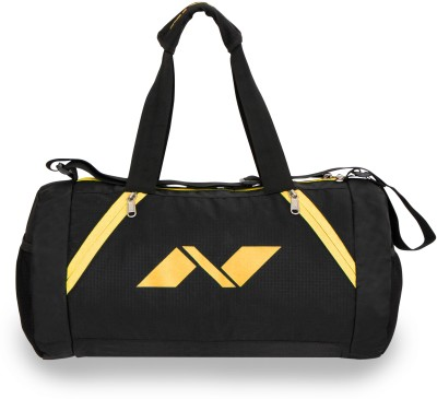 Nivia Beast Gym Bag Multi-purpose(Black, Yellow, Kit Bag)