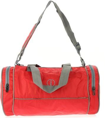 i Plain Spacious 13 inch/33 cm Gym Bag(Red)