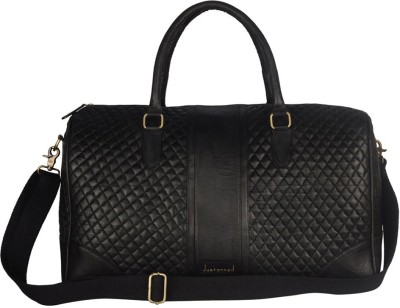 JUSTANNED LEATHER BLACK QUILTED DUFFLE BAG 20 inch/50 cm
