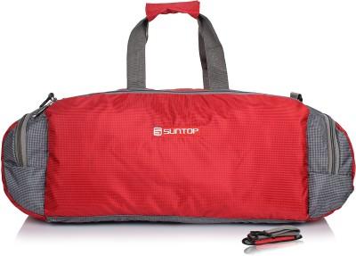 Suntop Barrel 21 inch/53 cm Travel Duffel Bag(Red, Grey)