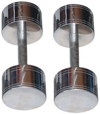 KOBO 15 Kg Pair Steel Chrome Plated High Quality Fixed Weight Dumbbell