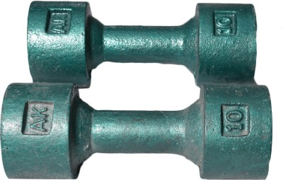 Royal 10kg_2pc_Casting_green Fixed Weight Dumbbell