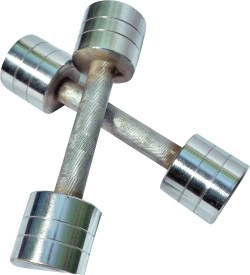 ROYAL 2.5kg_2pc_Chrome Fixed Weight Dumbbell