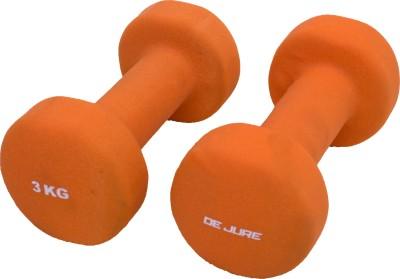 De Jure Fitness Imported Neoprene 3 Kgs Pair (Total 6 Kgs) Fixed Weight Dumbbell