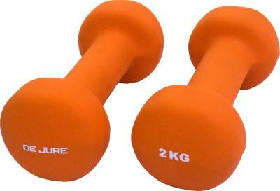 De Jure Fitness Imported Neoprene 2 Kgs Pair (Total 4 Kgs) Fixed Weight Dumbbell