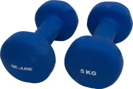 De Jure Fitness Imported Neoprene 5 Kgs Pairs (Total 10 Kgs) Fixed Weight Dumbbell