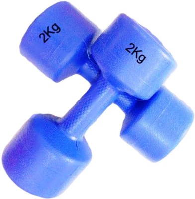 TIMA Round Dumbbell Pvc set of 2 pcs 2kg each Fixed Weight Dumbbell