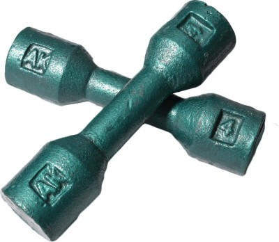 Royal 4kg_2pc_Casting_green_dumbbell Fixed Weight Dumbbell