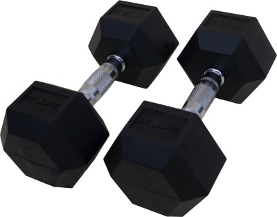 De Jure Fitness Imported Hex Dumbells Fixed Weight Dumbbell