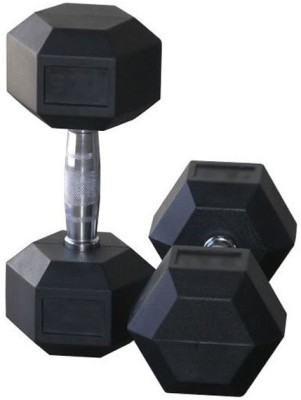 Protoner Rubber hexagonal 2.5 kg pair Fixed Weight Dumbbell