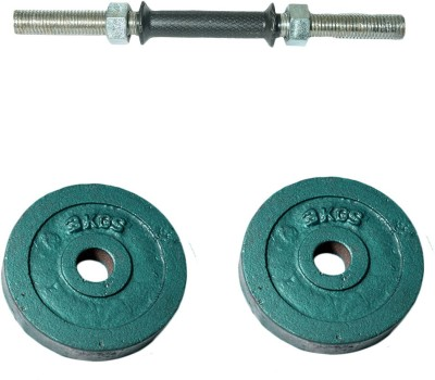 Royal 3kg_2pc_Casting_green_plates+1pc_Black_Handle Weight Plate(7 kg)