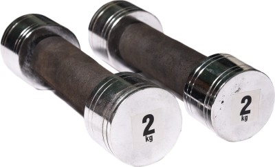 Royal 2kg_2pc_Chorme_silver_dumbbell Fixed Weight Dumbbell