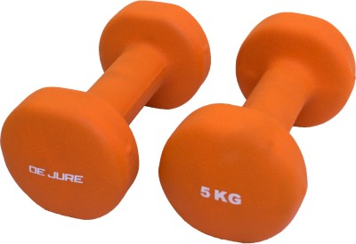 De Jure Fitness Imported Neoprene 5 Kgs Pair (Total 10 Kgs) Fixed Weight Dumbbell