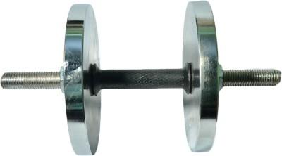 Royal 1pc Black Handle + 5kg_2pc_Chrome Silver Plates Adjustable Dumbbell