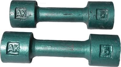 Royal 5kg_2pc_Casting_green_dumbbell Adjustable Dumbbell
