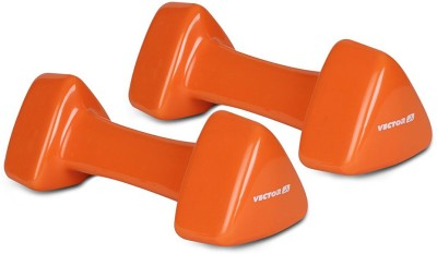 Vector X Pair of PVC Dumbbells (3KG+3KG) Fixed Weight Dumbbell