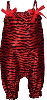 Bio Kid Girl's Black, Red Romper