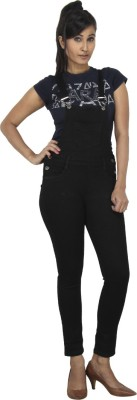 FCK-3 Women's Black Dungaree