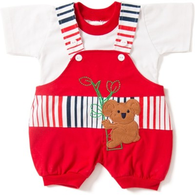 Camey Baby Boy's Red Dungaree