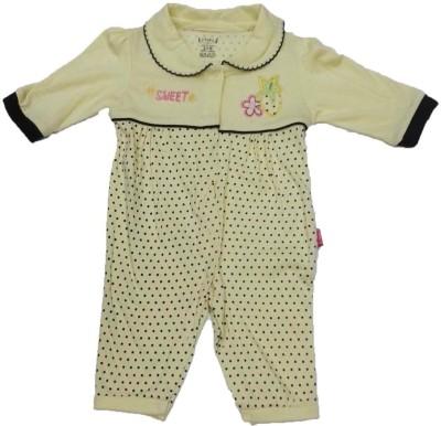 Johny Johny Yes Papa Baby Girl's Yellow Romper
