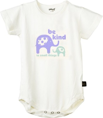 Omved Baby Boy's White Romper
