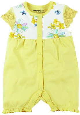 Babyoye Baby Girl's Yellow Romper