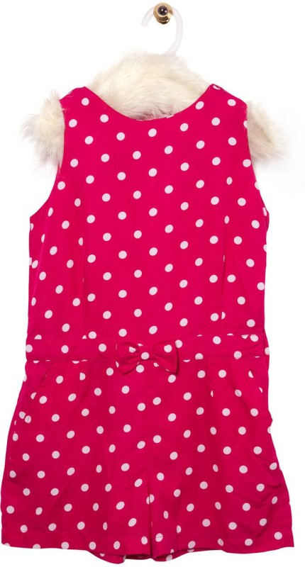 Roses By Rose Vanessa Romper For Girls Printed Polyester(Pink)